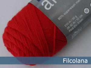 Filcolana Arwetta Classic. Farve: 138 Geranium Red