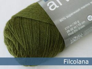 Filcolana Arwetta Classic. Farve: 148 Deep Olive