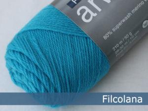 Filcolana Arwetta Classic. Farve: 199 Blue Atoll