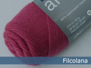 Filcolana Arwetta Classic. Farve: 226 Rasberry Pink
