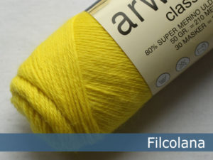Filcolana Arwetta Classic. Farve: 251 Electric Yellow